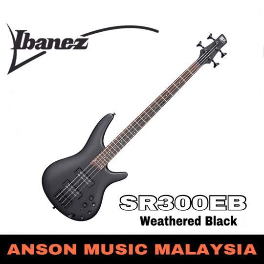 Ibanez SR300EB 4-String Bass, Weathered Black