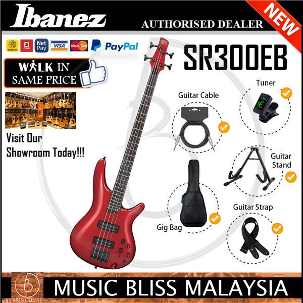 Ibanez SR300EB 4-String Electric Bass Guitar (Candy Apple) (SR-300EB)