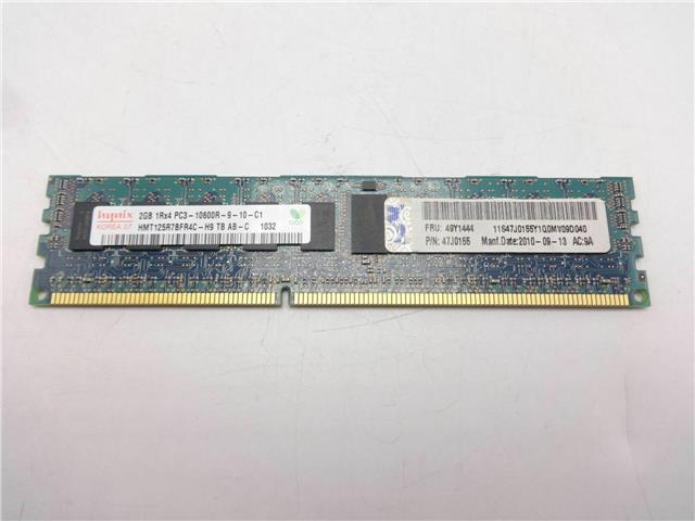 IBM 49Y1444 2GB 1RX4 PC3-10600 CL9 ECC DDR LP