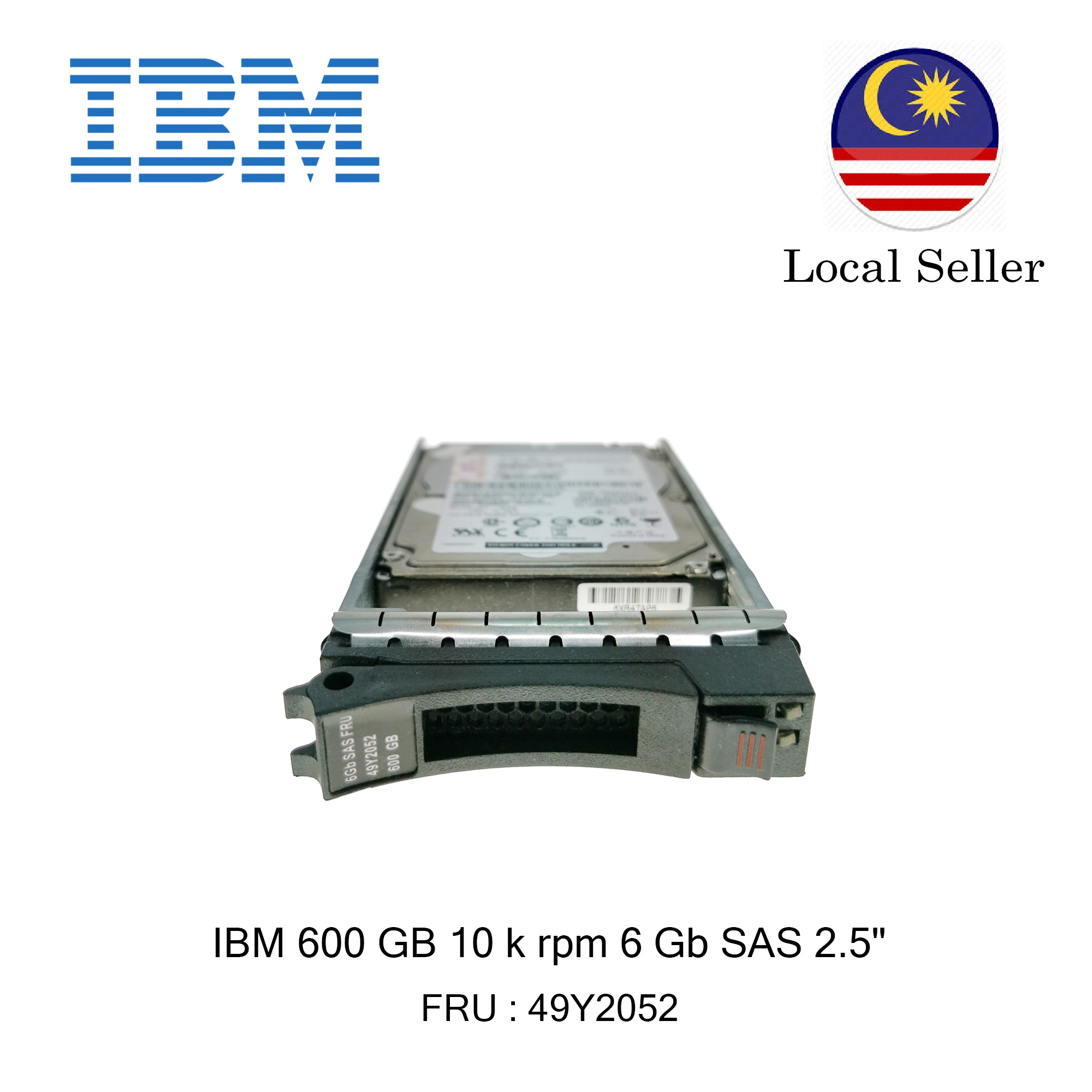 IBM 600 GB 10,000 rpm 6 Gbps SAS HDD // 49Y2052