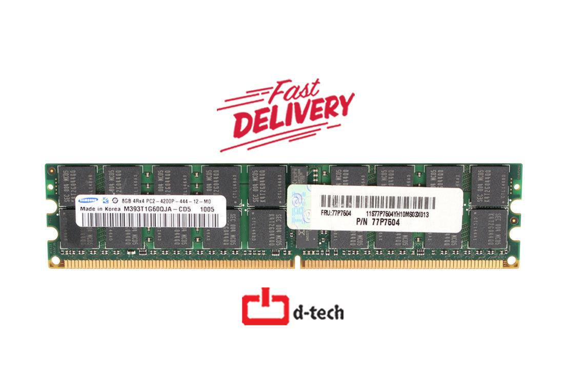 IBM 8GB (1x8GB) 4RX4 PC2-4200P Server Memory FOR POWER 6 - 77P7504