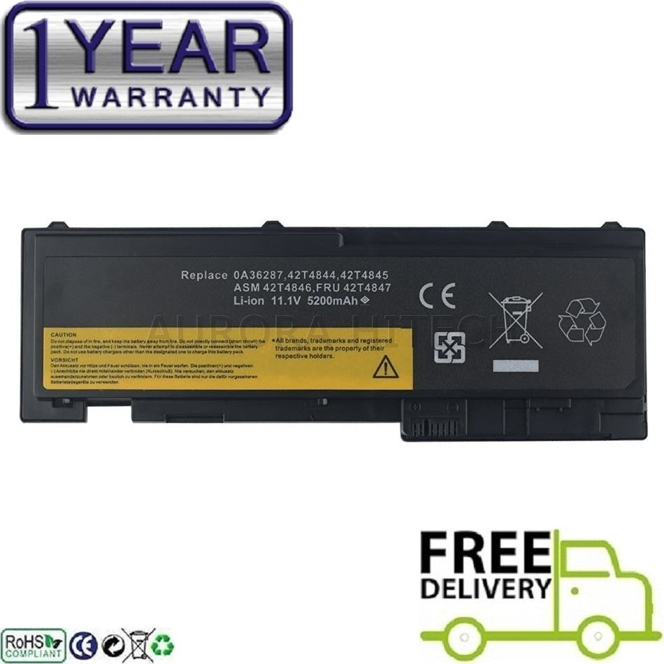 IBM Lenovo Thinkpad T420s 66+ ASM 42T4846 FRU 42T4847 Laptop Battery