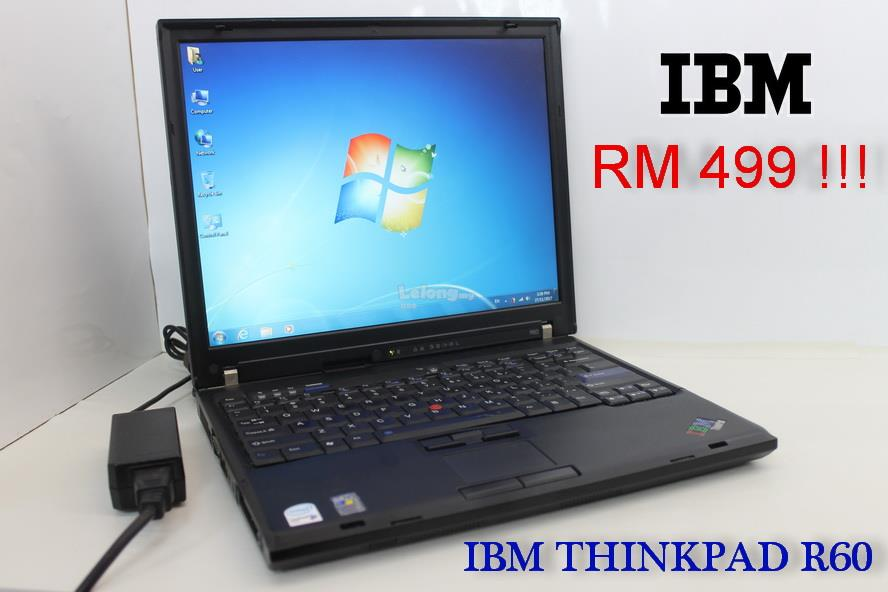 IBM ThinkPad R60  Laptop,Intel Core Duo 1.83Ghz,1Gb,60Gb hdd