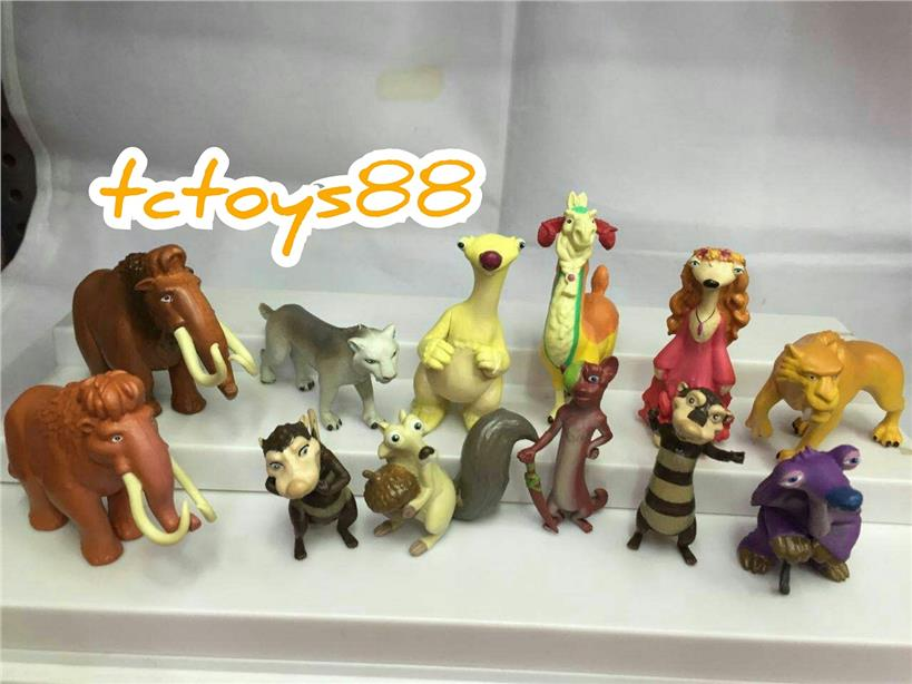 Ice Age figurine toys. Ice Age figure / Cake Topper. (12pcs in 1). New