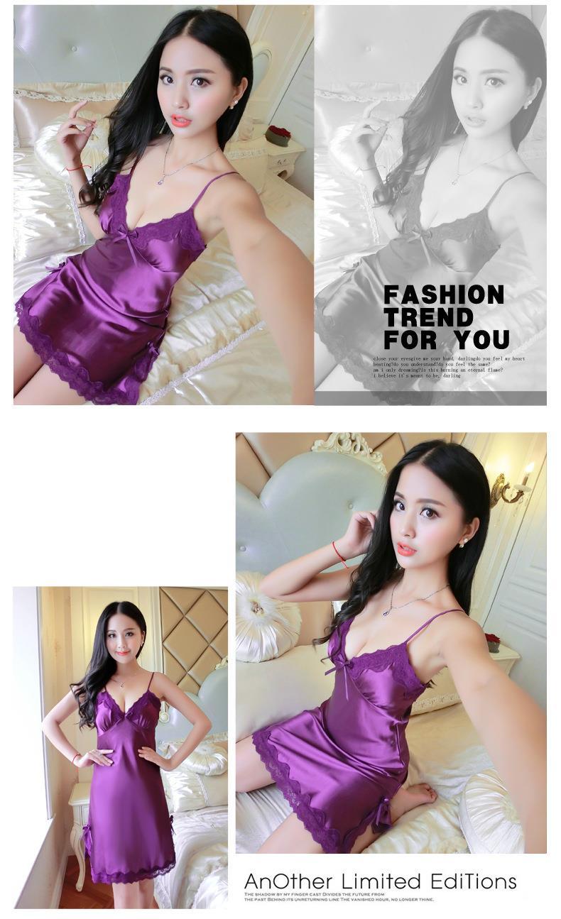 a58507b339 Ice Silk Robe Sleepwear Sexy Linger (end 8 30 2019 11 33 AM)