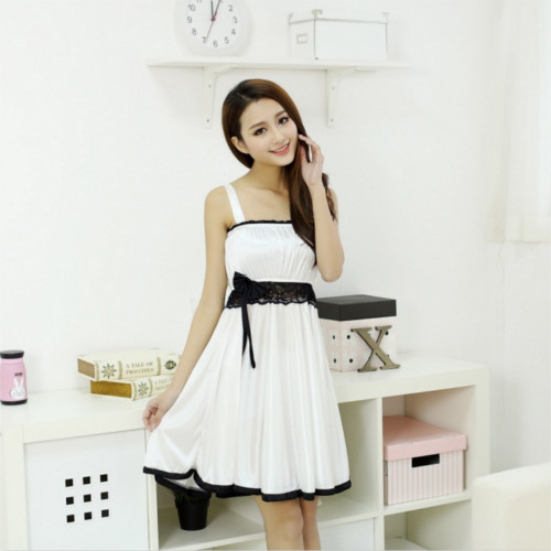 ICE SILK SLEEPWEAR JL0066 (WHITE, SIZE XL)