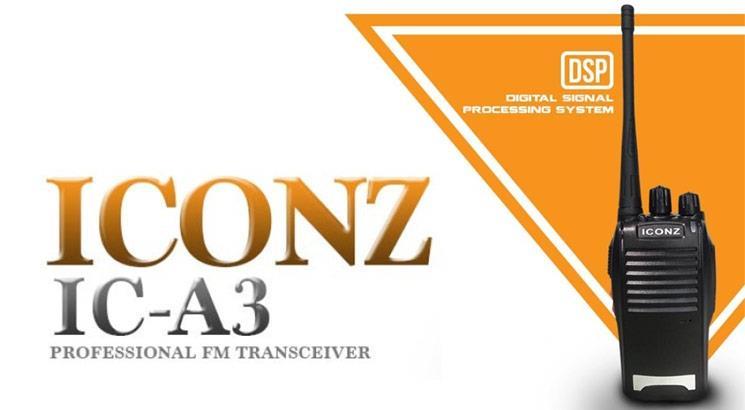 ICONZ IC-A3 Professional FM Transceiver Walkie-Talkie ( 1 Set ) ( 5KM