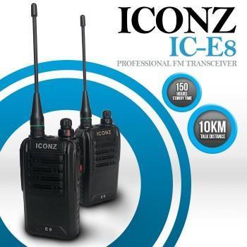 ICONZ IC-E8 Professional FM Transceiver Walkie-Talkie (1 Set) (10KM)