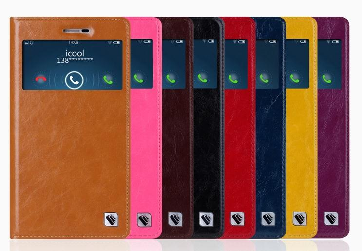 icool Cow Leather VIVO X5 Max Flip Case Cover Casing + Free Gift