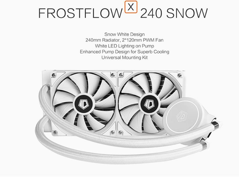 ID COOLING FROSTFLOW X 240 SNOW EDITION WATER COOLER