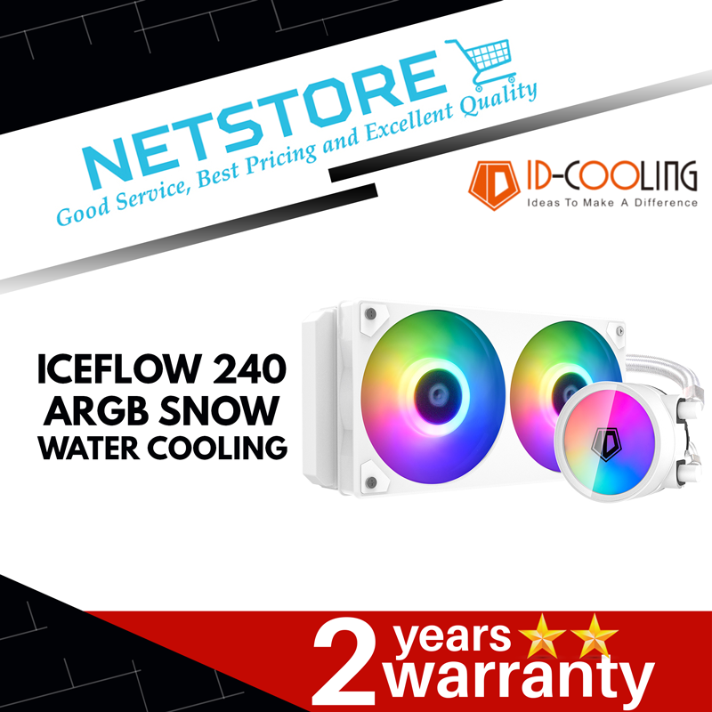 ID-COOLING ICEFLOW 240mm ARGB WATER COOLING (SNOW)