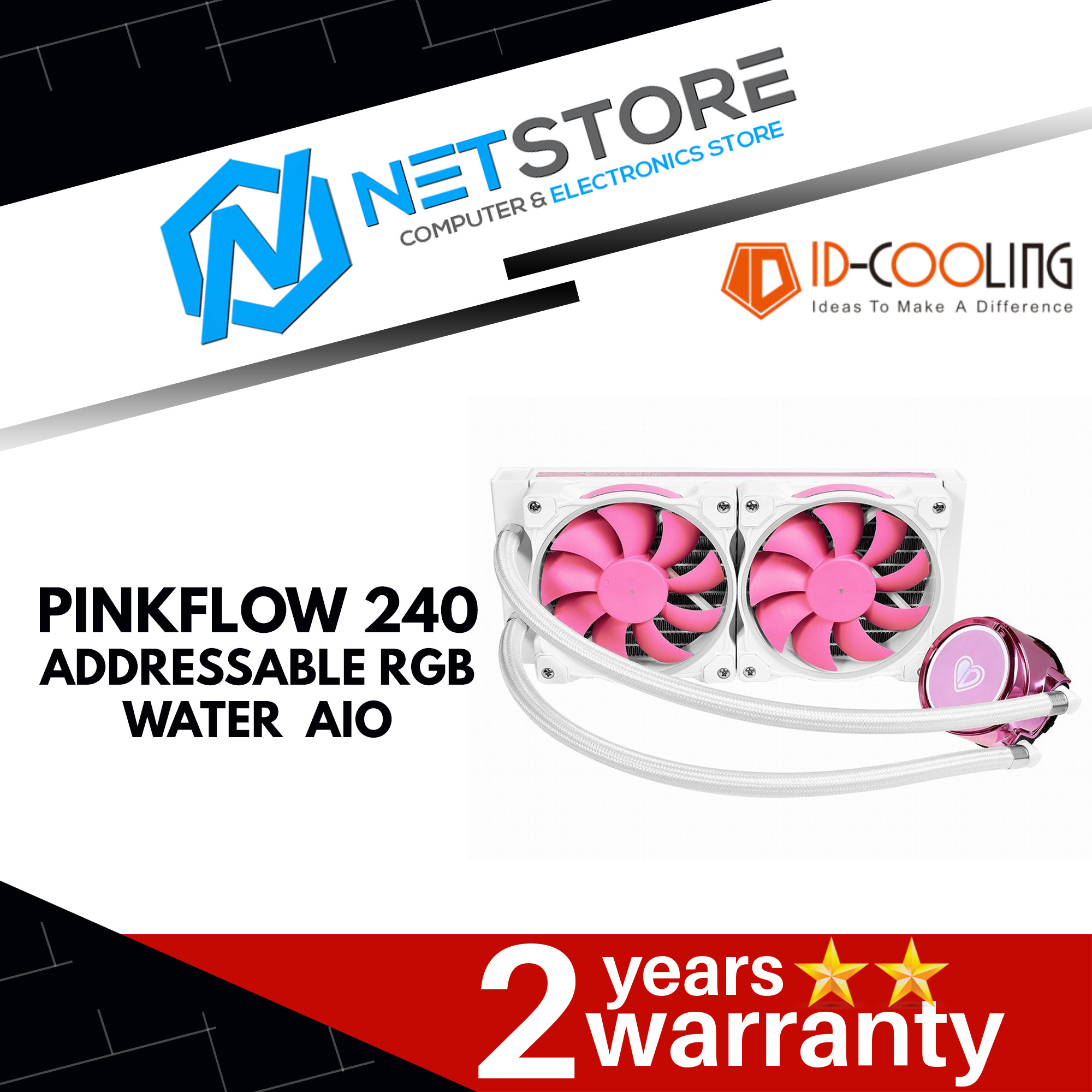 ID-COOLING PINKFLOW 240 ARGB AIO WATERCOOLING - LIMITED EDITION