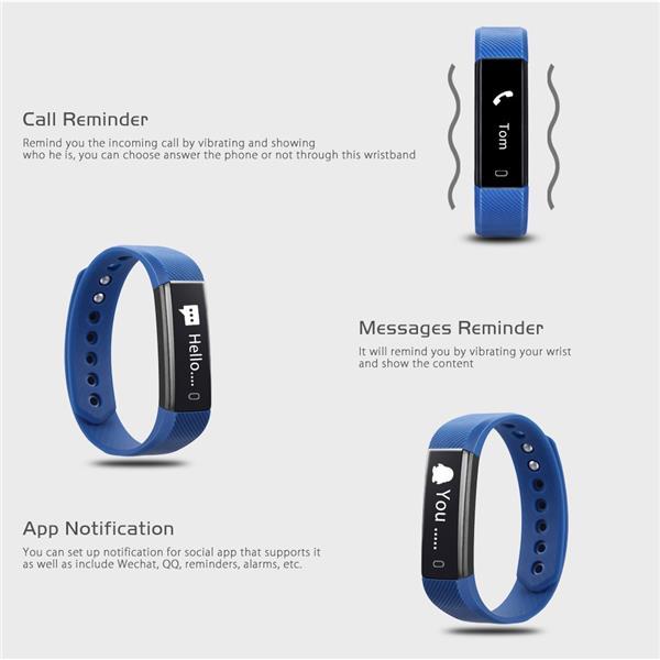Id115 Bluetooth Smart Band Bracelet Fitness Tracker Sports Wristband