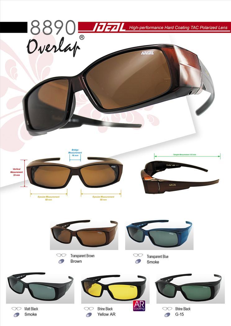 0524840876 IDEAL - FitOver Overlap Polarized Sunglasses - Model 8890. ‹ ›