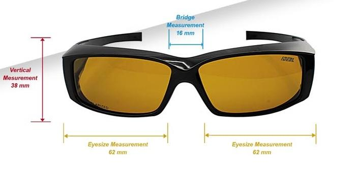 d032215fb3 IDEAL - FitOver Overlap Polarized Sunglasses Unisex Style - Model 8908