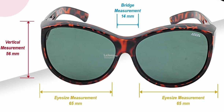 bcf48fef0d IDEAL - FitOver Overlap TAC Polarized Sunglasses - Model 8974
