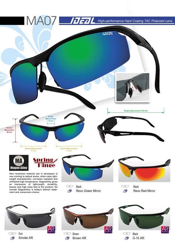 836dcdc9a8f IDEAL - Magne Alloy Frames Polarized Sunglasses for Men - Model MA07. ‹ ›