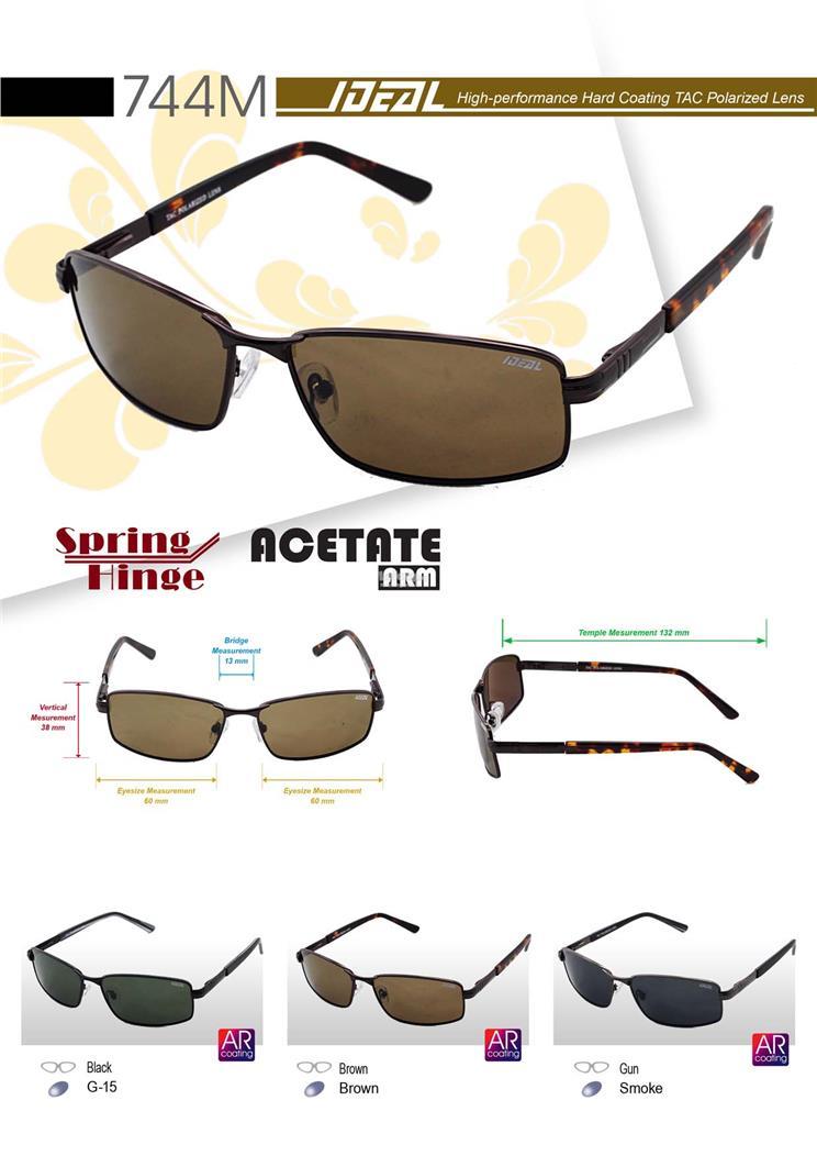 3a069808ff8 IDEAL - Men Metal Polarized Sunglasses with Spring Hinge - Model 744M. ‹ ›