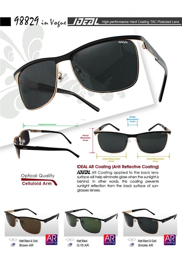b1418f7ccb3a IDEAL - Polarized Sunglasses w AR Coating - Model 98829 in Vogue. ‹ ›