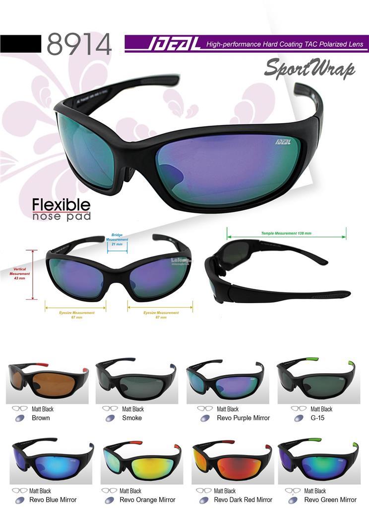 d411fdd31074 IDEAL - Sports Wrap Polarized Sunglasses for Men - Model 8914. ‹ ›