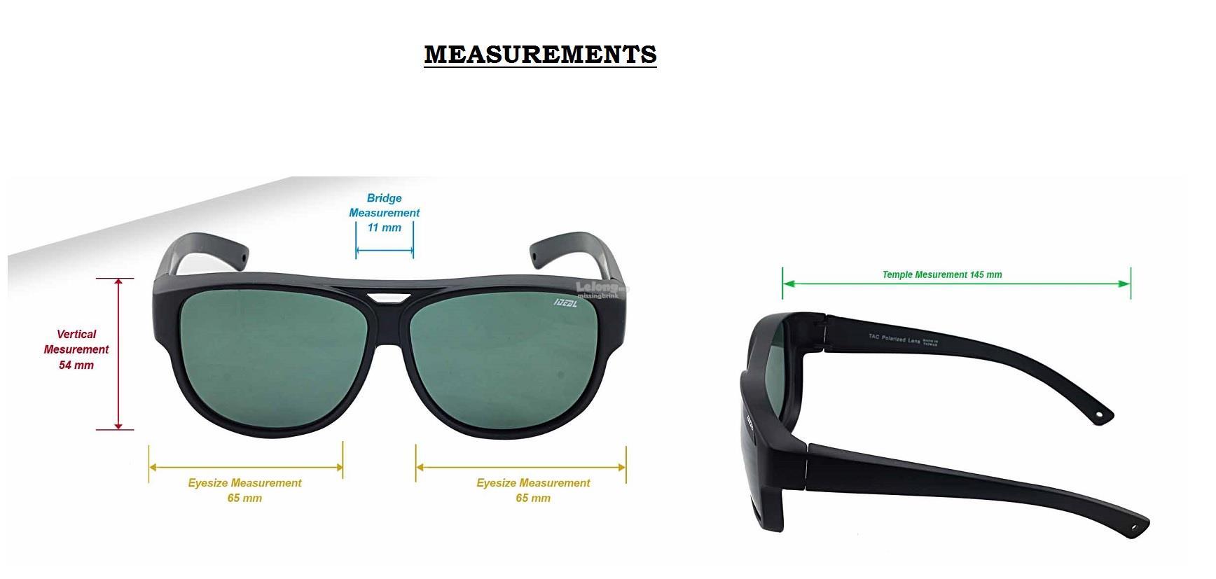 5bf4b1b288c IDEAL - Unisex FitOver Overlap TAC Polarized Sunglasses - Model 8975