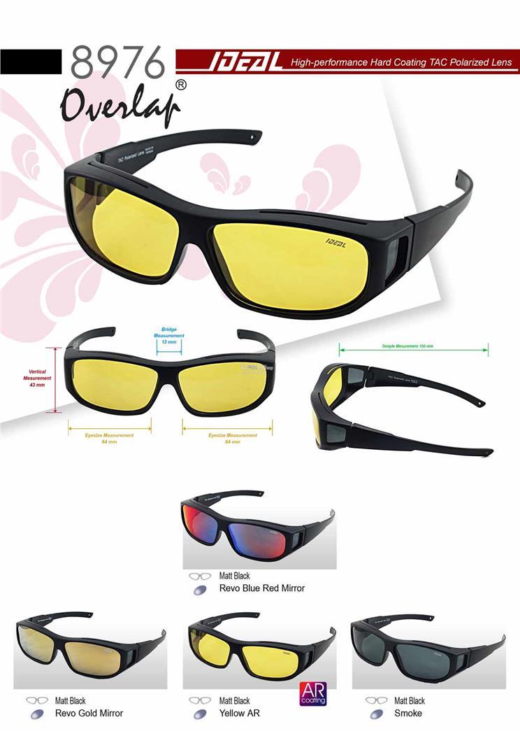 3c14a8d64da IDEAL - Unisex FitOver Overlap TAC Polarized Sunglasses - Model 8976. ‹ ›