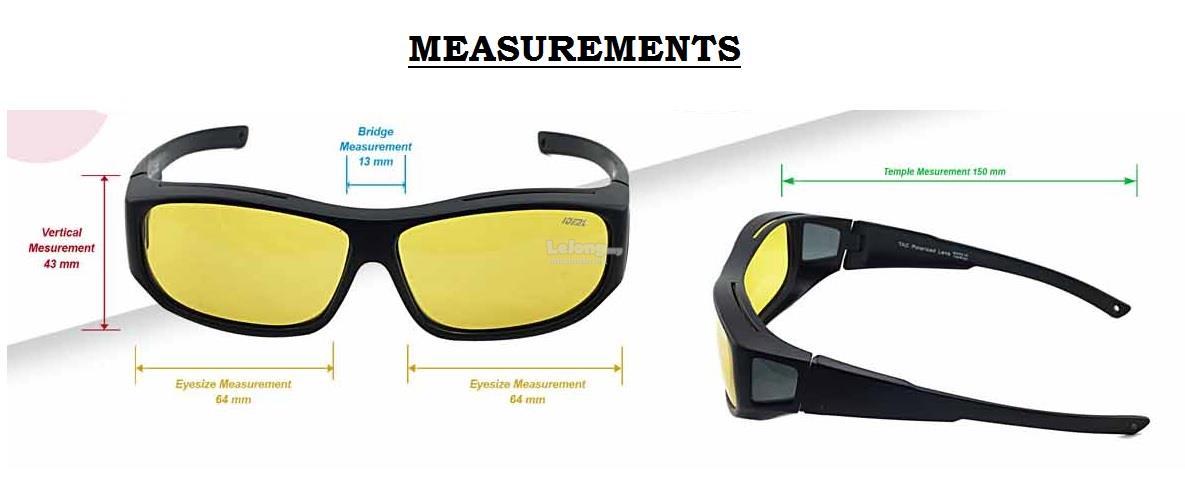 e956ae1734a IDEAL - Unisex FitOver Overlap TAC Polarized Sunglasses - Model 8976