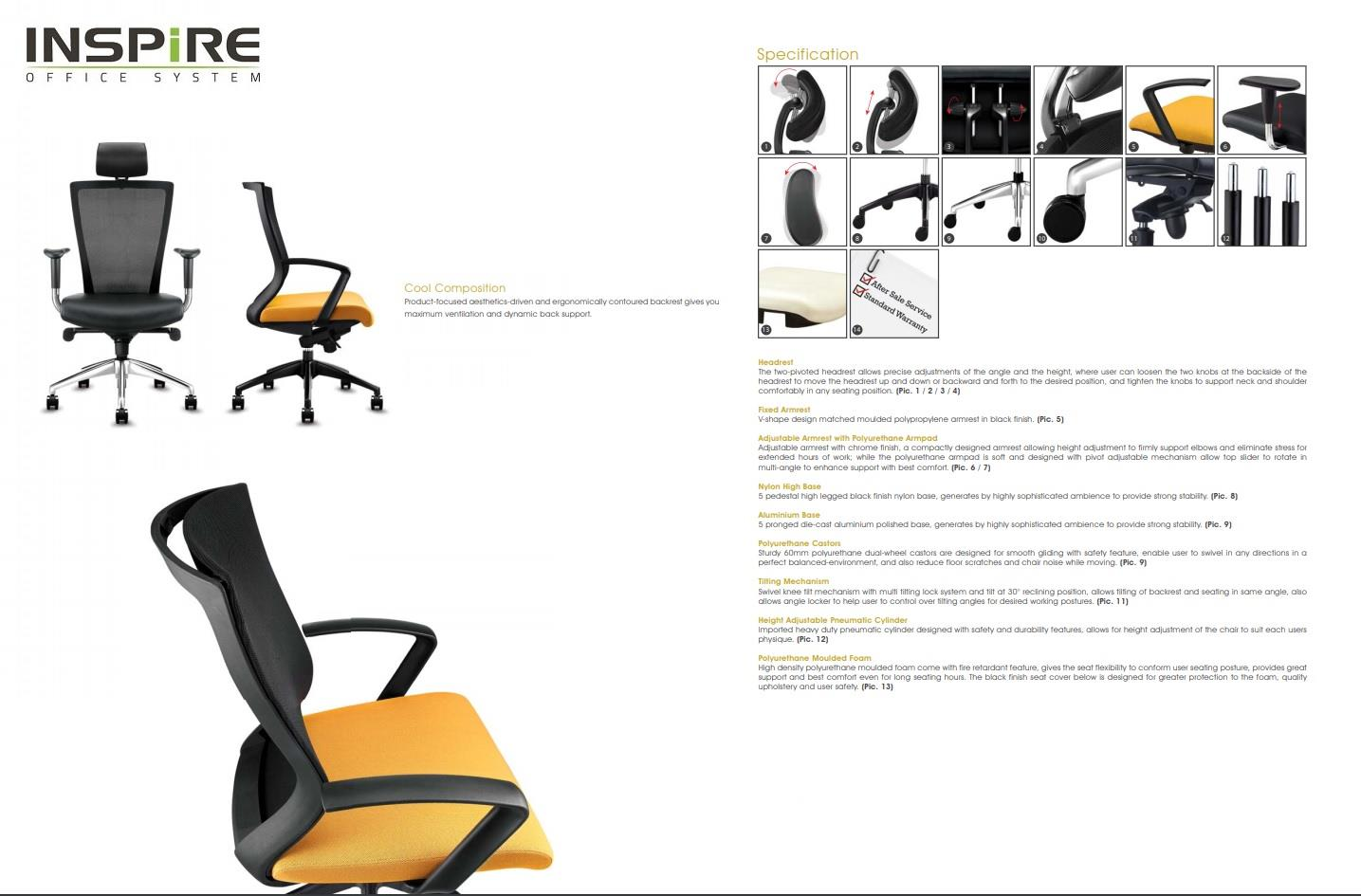 Ideas Series P.U Leather Mesh Visitor Office Chair