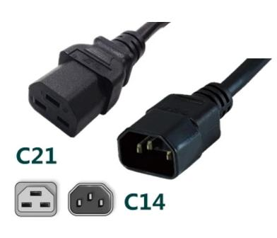 IEC 320 AC Cord for PDU UPS C21 to C14