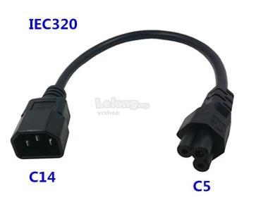 IEC-320 AC Power Cord with C14 to C5 20cm (S438)