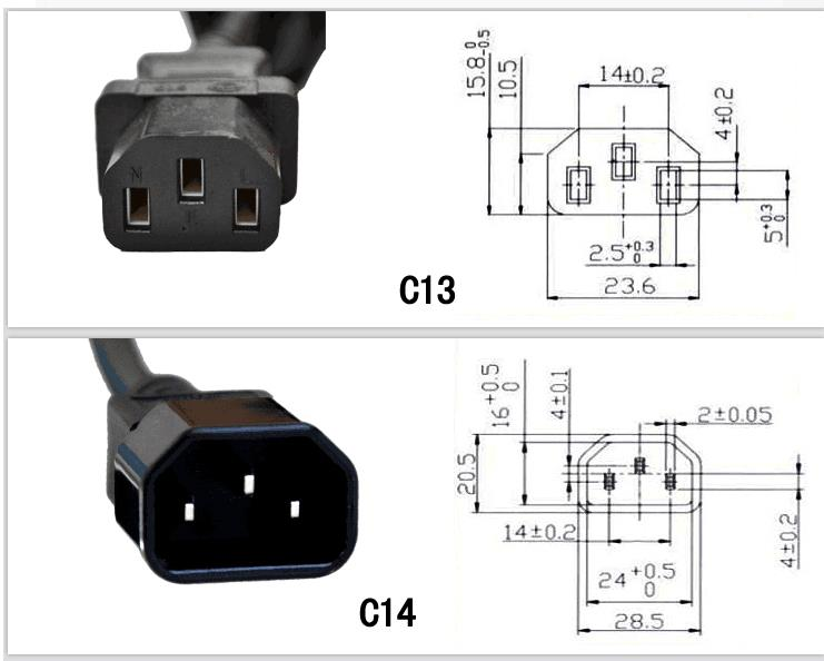 IEC C14 Male to 3 triple x C13 Power Splitter Cable Cord 30cm 0.3m Ac Iec C Wiring Diagram on