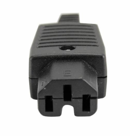 IEC320 C15 10A 250V Rewireable Socket Adapter Plug (S308)