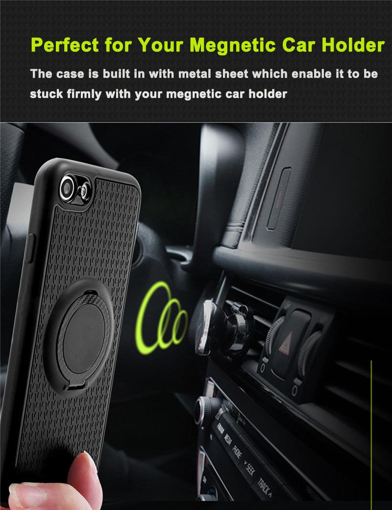 iFace Hamee Huawei Mate 9 Magnetic Finger Ring Car Holder Case Cover