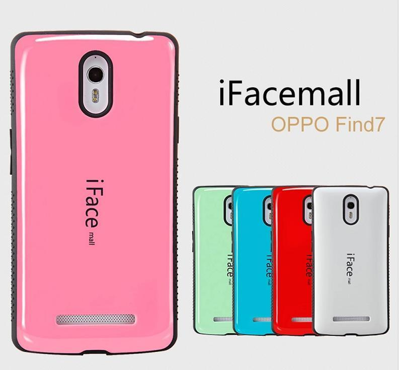 best website cee0e 1bacb iface mall OPPO Find 7 7A ShakeProof Back Case Cover Casing +Free Gift