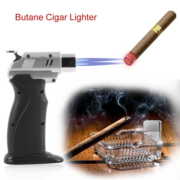 Ignition Inflatable Kitchen Lighter Torch Jet 1300 Degree Butane Cigar