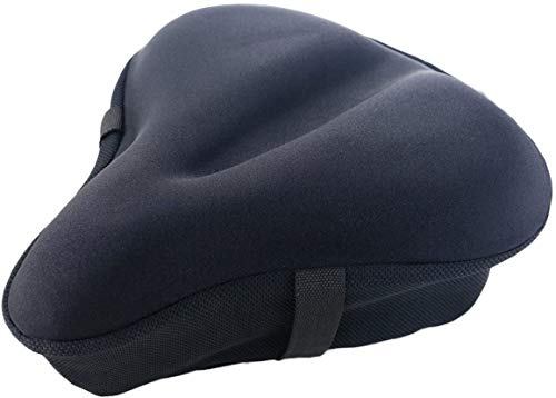 iGoods Gel Bike Seat Cushion Cover for Men and Women, UPDATED Soft Wide Bike B