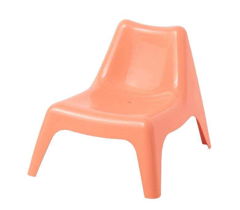IKEA BUNSO Childrenu0027s Easy Chair Outdoor Pale Orange. U2039 U203a