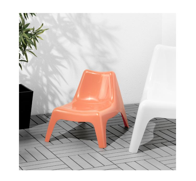 IKEA BUNSO Childrenu0027s Easy Chair Outdoor Pale Orange
