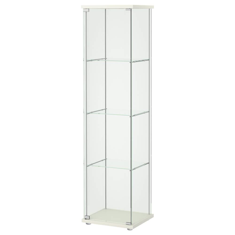 Ikea detolf glass door cabinet white