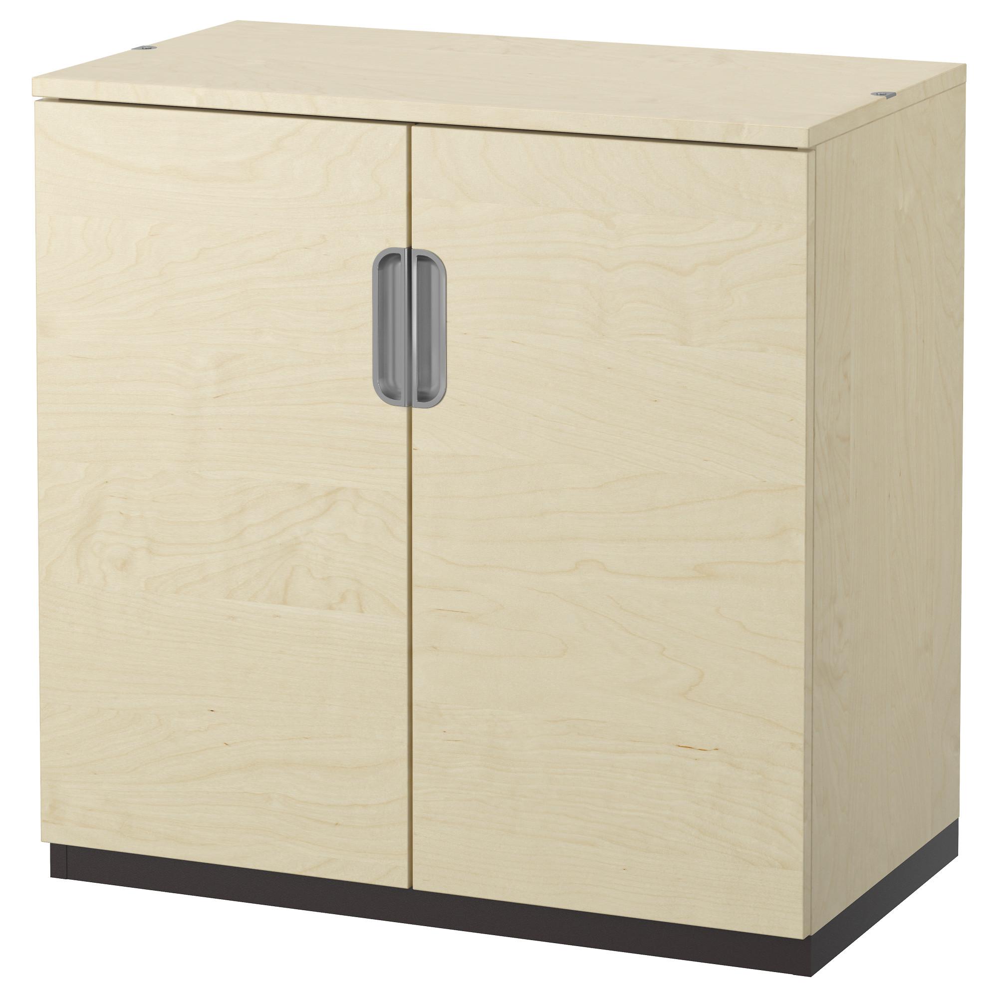 Ikea galant cabinet with doors birch veneer 80x80 cm