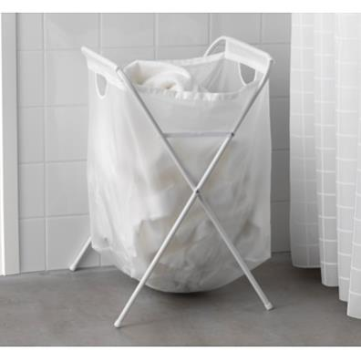 IKEA JÄLL LAUNDRY BAG WITH STAND WHITE
