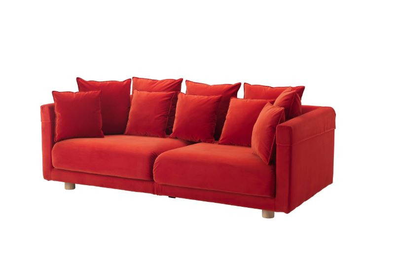 IKEA STOCKHOLM 2017 Three Seat Sofa Sandbacka Orange. U2039 U203a