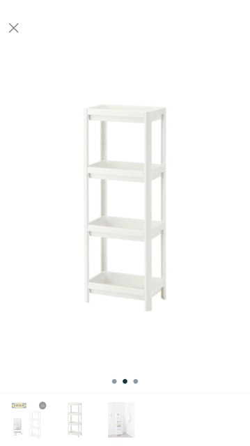 Merveilleux IKEA VESKEN Plastic Bathroom Shelf Unit/Multipurpose Storage Unit,36x100 Cm