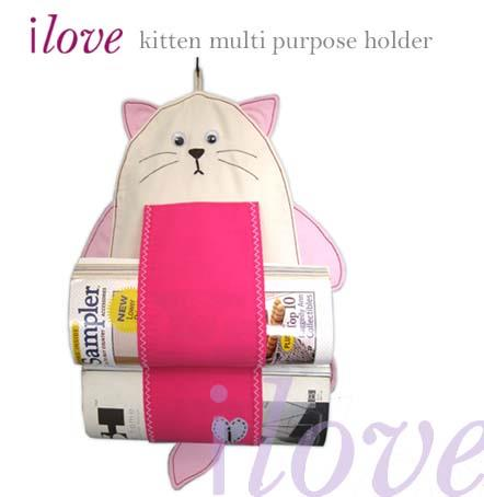 ilove kitten magazine or toilet rolls hanging holder