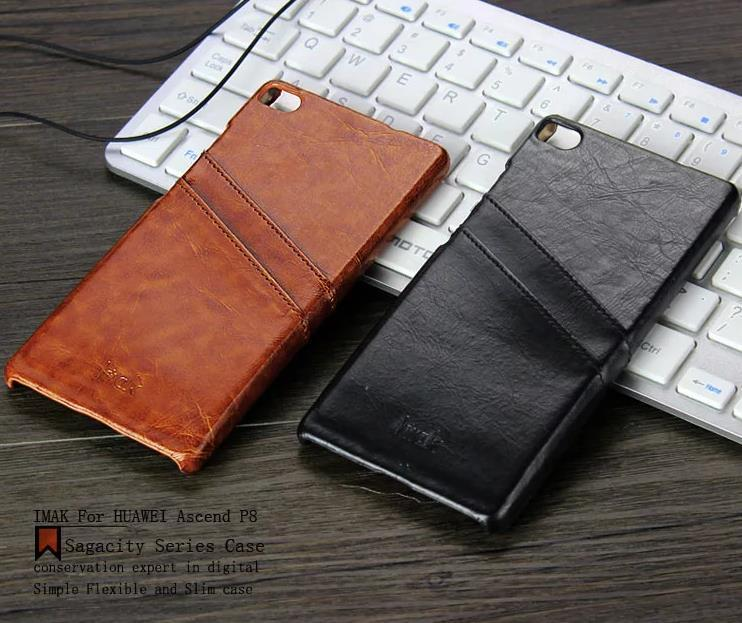 Imak Huawei Ascend P8 5.2' Leather Back Case Cover Casing + Free Gift