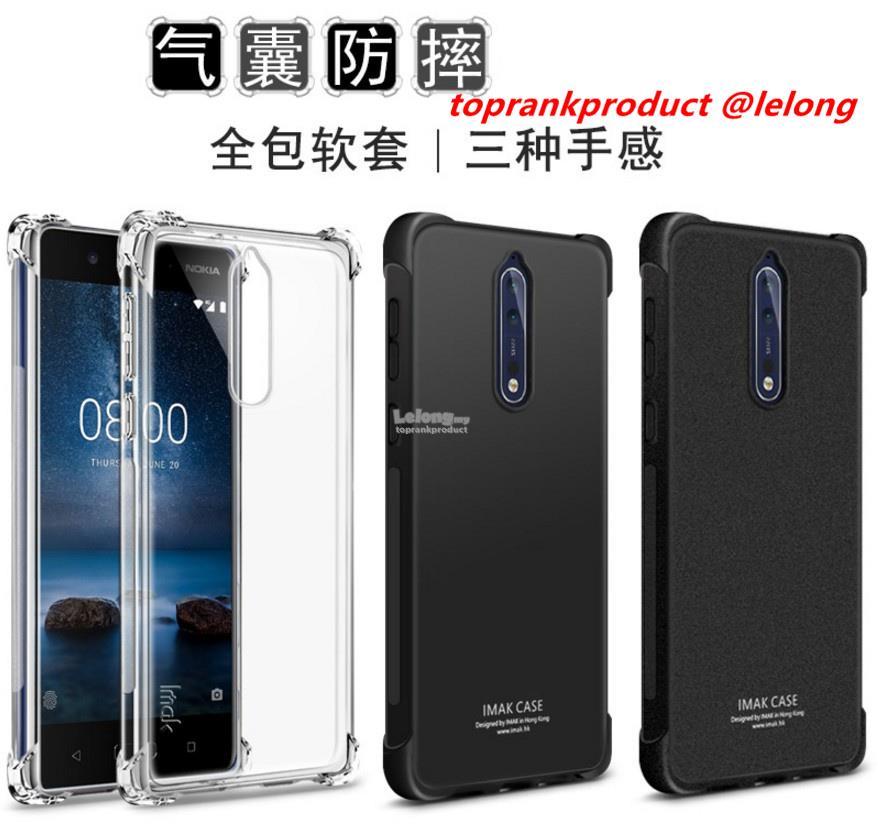 reputable site ed87b ea7cd Imak Nokia 8 Nokia8 Soft TPU Matte Silicone Case Cover Casing