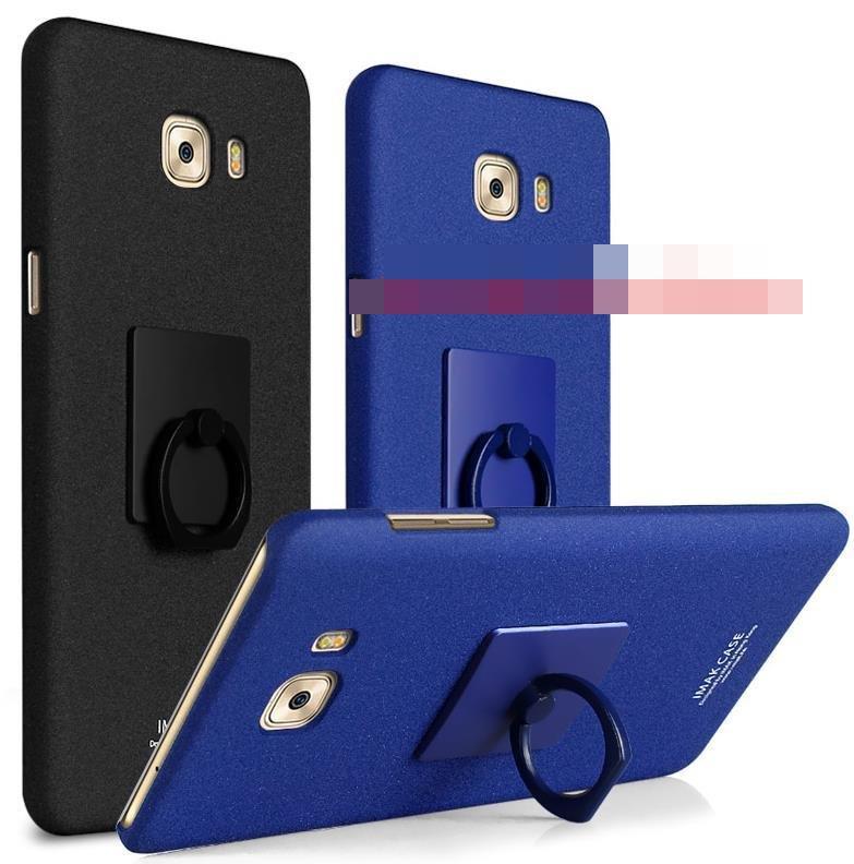 new arrival fbc16 a9eda Imak Samsung Galaxy C9 Pro Matte Back Case Cover Casing + Ring Holder