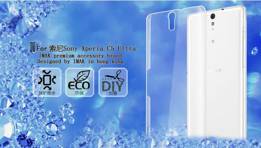finest selection b6ff4 65c3c Imak Sony Xperia C5 Ultra M5 Dual Transparent Hard Case Cover Casing