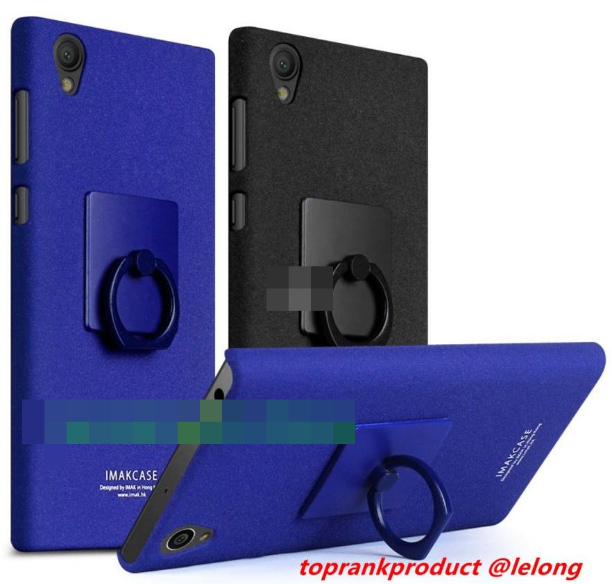 Imak Sony Xperia L1 Matte Hard Back Case Cover Casing +Ring Holder