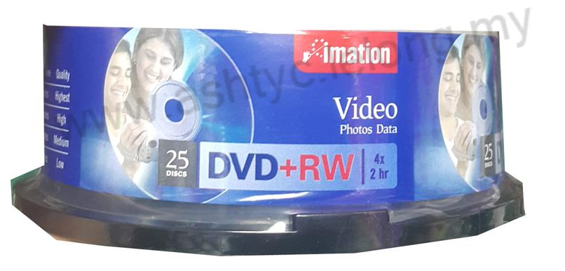 IMATION DVD+RW MEDIA DISC 25PCS SPINDLE